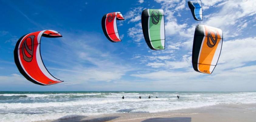 kitesurfing Kites in Action