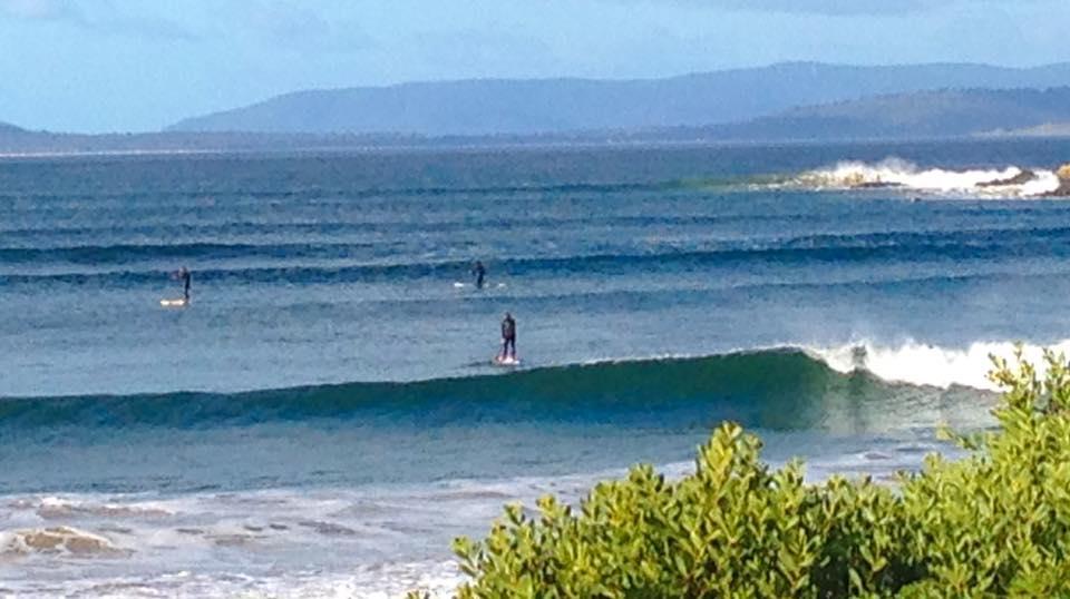 Stand up paddling Cremorne Beach Tasmania