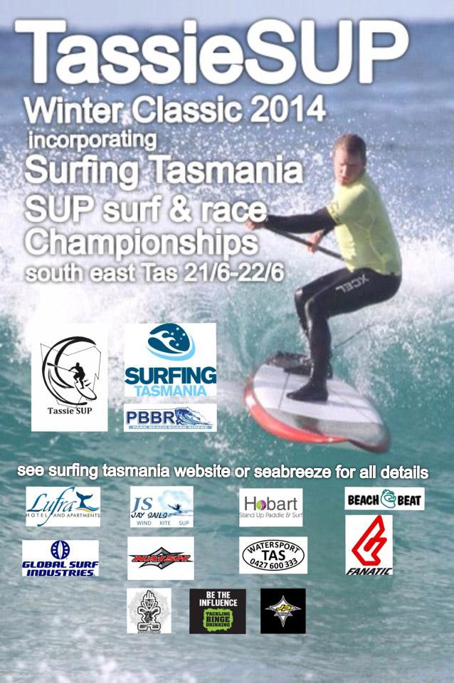 SUP Winter Classic Tasmania flyer