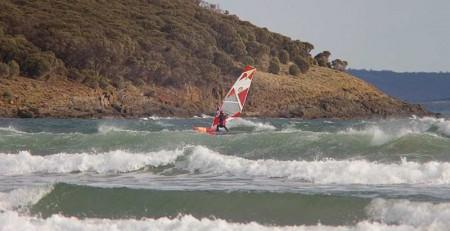 Fanatic Tri wave test Jay Sails