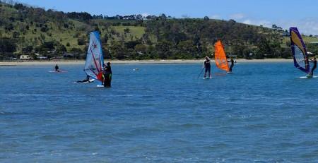 learn to windsurf in tasmania