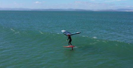 wingsurfing tasmania style